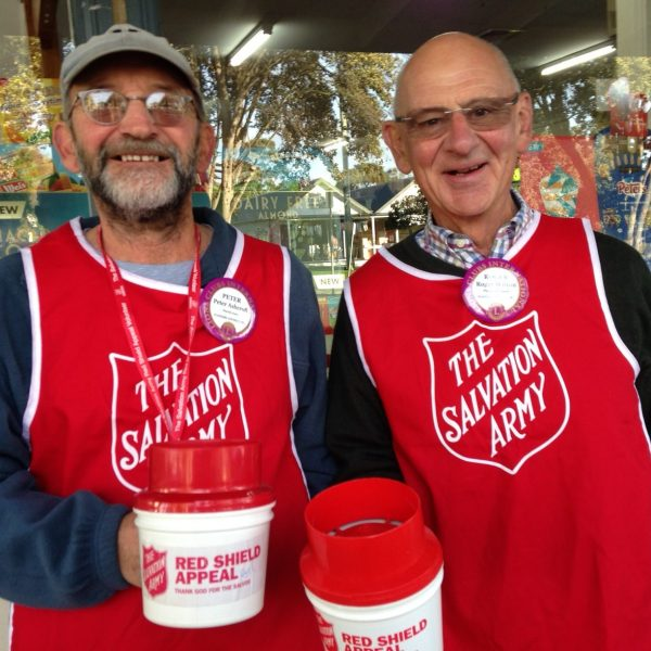Each year Flinders Lions shake the can outside the Flinders General store for the Salvos