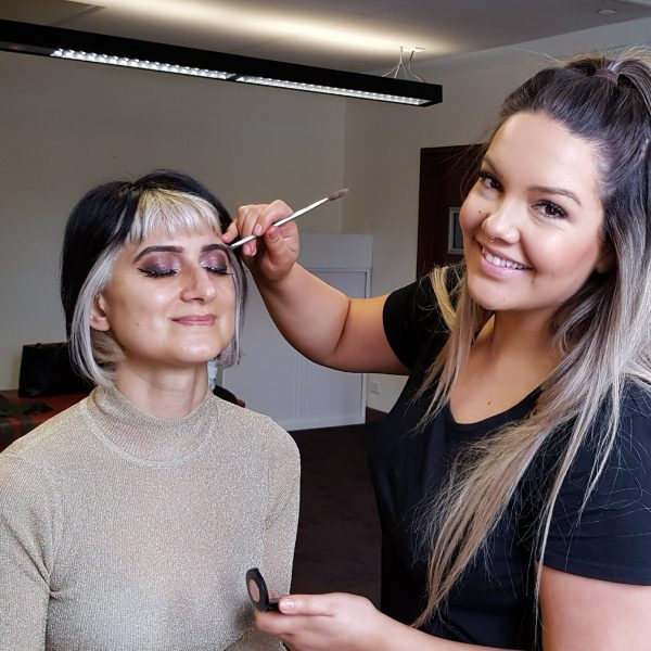 "Sarah McMaster - Make up artist, applied the make up to all our models at our ""More than skin deep"" Fashion Parade in October 2019. She is pictured with Specialist Rheumatologist Dr Mandy Nikpour, one of our volunteer models."