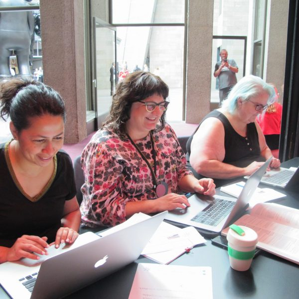Our volunteers are participating in an Art+Feminism Wikipedia Edit-a-thon at the National Gallery of Victoria to celebrate International Women's Day 2020, and to amplify the voices of Australian women artists.