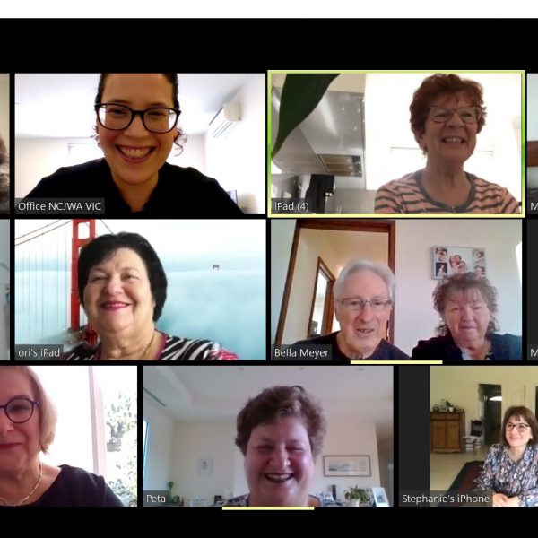 Seniors Program volunteers offering group discussions and guest speakers via Zoom
