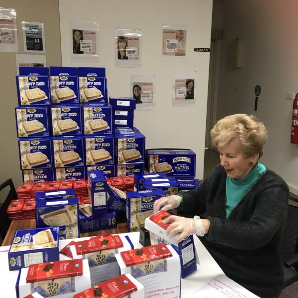 One of our beloved volunteers is helping to pack special Pesach packages. These packages helped the participants to celebrate the holiday during the challenging time of COVID-19, by creating a sense of community and reminding them they are not alone