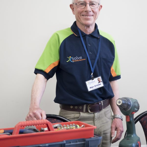 Alan a volunteer supporting people with disability through assistive technology